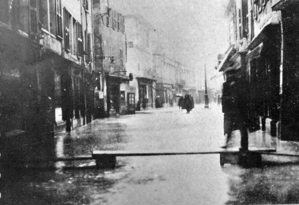 Crue du 1910 à Chambéry